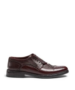 Burberry | Asymmetric Grained-Leather Brogues