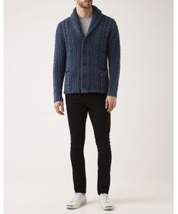DENIM & SUPPLY RALPH LAUREN | Faded Cable Knit Cotton Cardigan