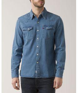 Levi's | Western Faded Indigo Denim Selvedge Shirt
