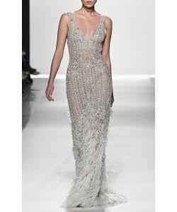 Jonathan Simkhai | Diamond Tulle Fringe Gown