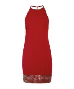 Adam Selman   Embellish-Trimmed Halter Mini Dress