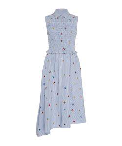 Suno   Embroide Smocked Shirt Dress