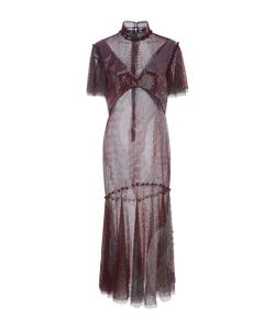 Prabal Gurung | Crystal Mesh Flounce Dress