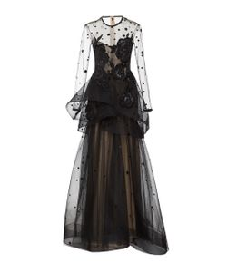 Monique Lhuillier | Long Sleeve Illusion Gown