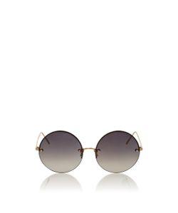 Linda Farrow | Frameless Circle Lens Sunglasses