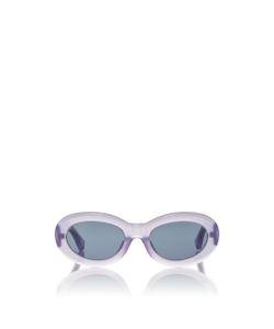 Linda Farrow | Dries Van Noten Lilac Lucite Sunglasses