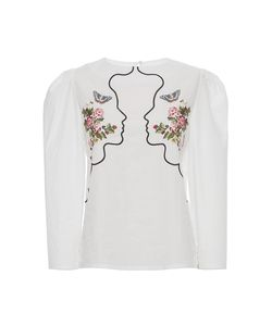 Vivetta | Embroide Vipera Cropped Sleeve Blouse