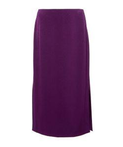 Paule Ka | Crepe Straight Midi Skirt