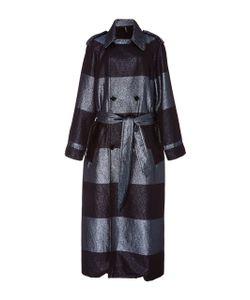 Adam Selman   Stripe Trench Coat