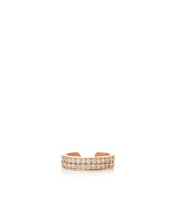 Anita Ko | Double Row Diamond Ear Cuff In Rose