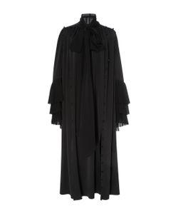 Prabal Gurung | Long Sleeve Tie Neck Silk Midi Dress