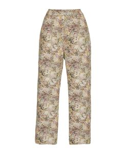 Isa Arfen | Classic Abstract Field Cropped Pants