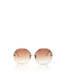 Linda Farrow | Hexagon Frameless Sunglasses