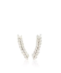 Anita Ko | Double Marquis Floating Earring
