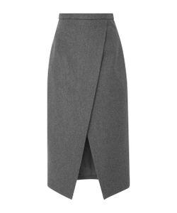 Michael Kors Collection   Pressed Wool Scissor Skirt