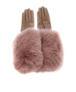 Paule Ka | Leather Gloves With Fox Fur Cuff