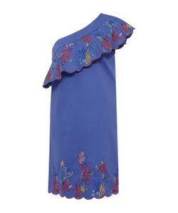 Saloni   Embroide One Shoulder Dress