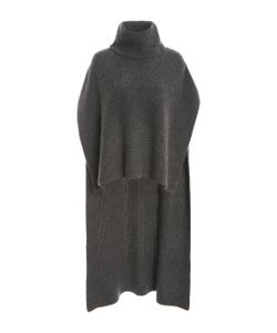 Rosetta Getty | Ribbed Turtleneck Poncho