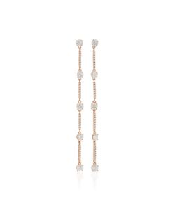 Anita Ko | Pave Bar Link Drop Earrings