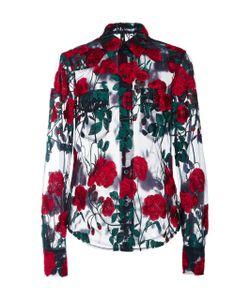 Adam Selman   Embroide Sheer Shirt