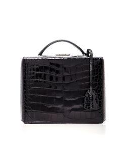Mark Cross | Crocodile Grace Large Box Bag