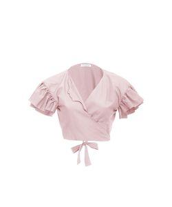 Vivetta | Ruffle Sleeve Cropped Blouse