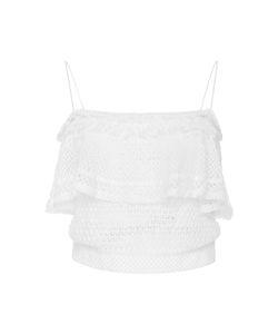Jonathan Simkhai | Cropped Open-Knit Cotton-Blend Top