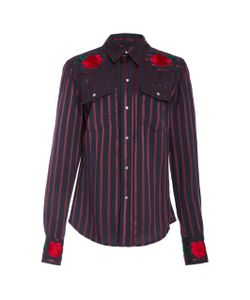 Adam Selman   Embroide Button Up Shirt
