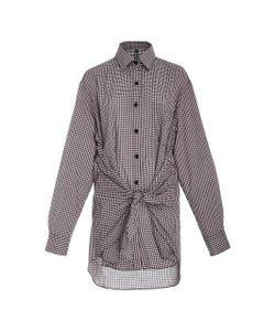 Adam Selman   Gingham Tie Front Shirt
