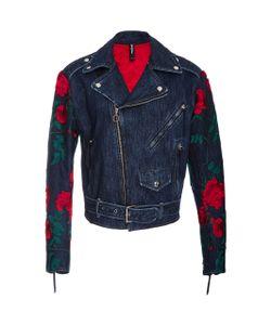 Adam Selman   Embroide Denim Moto Jacket