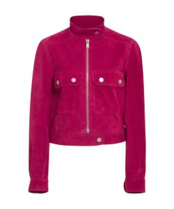 Courrèges | Fushia Suede Cropped Jacket