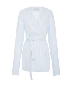 Protagonist   Belted Wrap Cotton Shirt