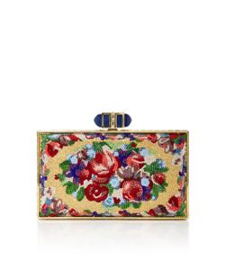 Judith Leiber Couture | Aubusson Coffe Rectangle Clutch