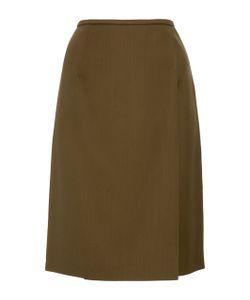 Paule Ka | Wool Gabardine Pencil Skirt