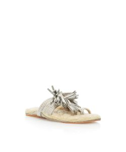 Figue   Shearling Scaramouche Sandal