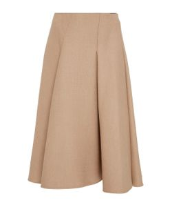 Paule Ka | Wool Tricotine Fla Skirt