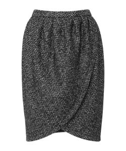 Michael Kors Collection   Leather Detail Tulip Skirt