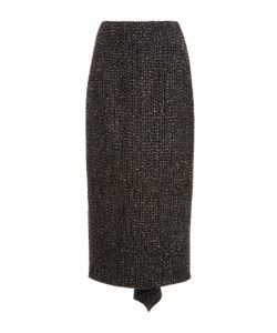 Rosetta Getty | Godet Back Wool Skirt