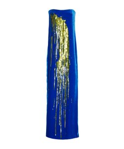Monse | Velvet Sequin Splashed Gown