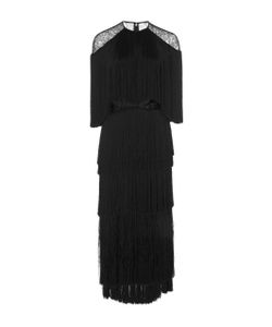 Prabal Gurung | Tie Fringe Silk Dress