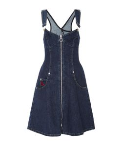 Adam Selman   Denim Overall Dress