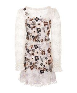 Rodarte | Hand Beaded Daisy Lace And Chiffon Dress