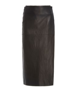 Rosetta Getty | Wrap Leather Skirt