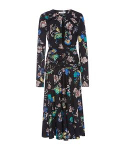 Prabal Gurung | Ed Silk Long Sleeve Keyhole Dress