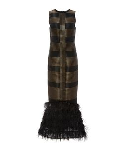 Sally Lapointe | Sculpted Sleeveless Ostrich Feather Dress