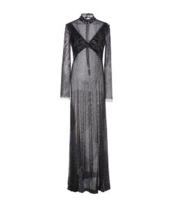 Prabal Gurung | Crystal Mesh Long Sleeve Gown