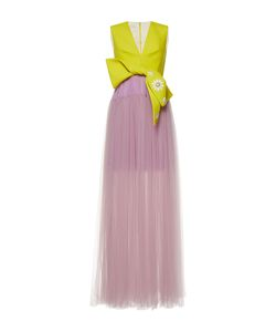 Delpozo | Sleeveless V Neck Gown
