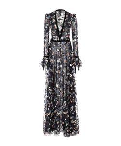 Monique Lhuillier | Embroide Long Sleeve Gown