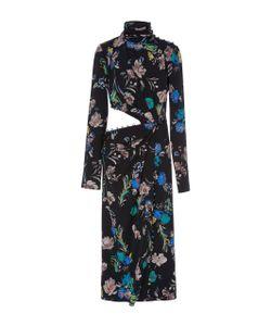 Prabal Gurung | Ed Long Sleeve Silk Dress With Cutout