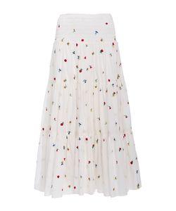 Suno   Embroide Smocked Maxi Skirt